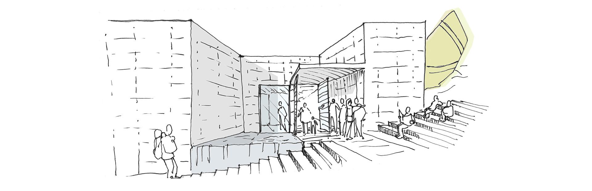 Bozzetto 2 progetto site museum