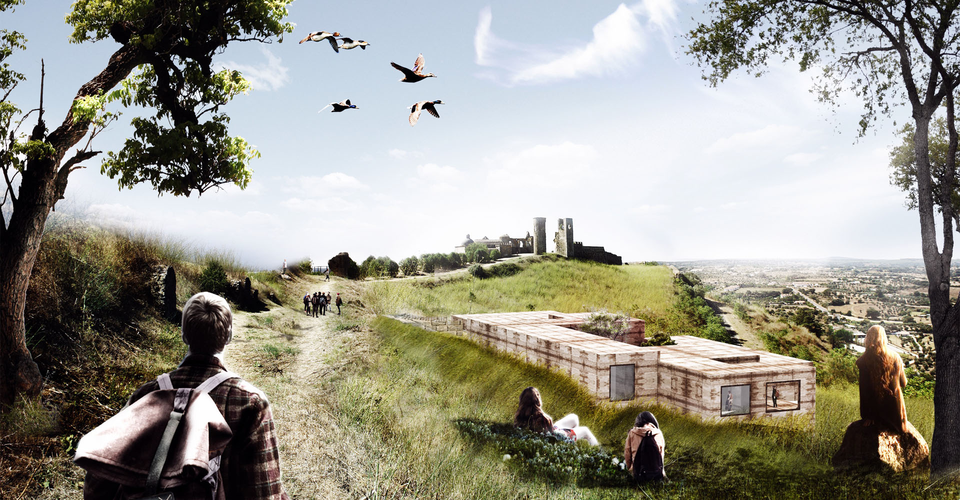 Render progetto Site Museum