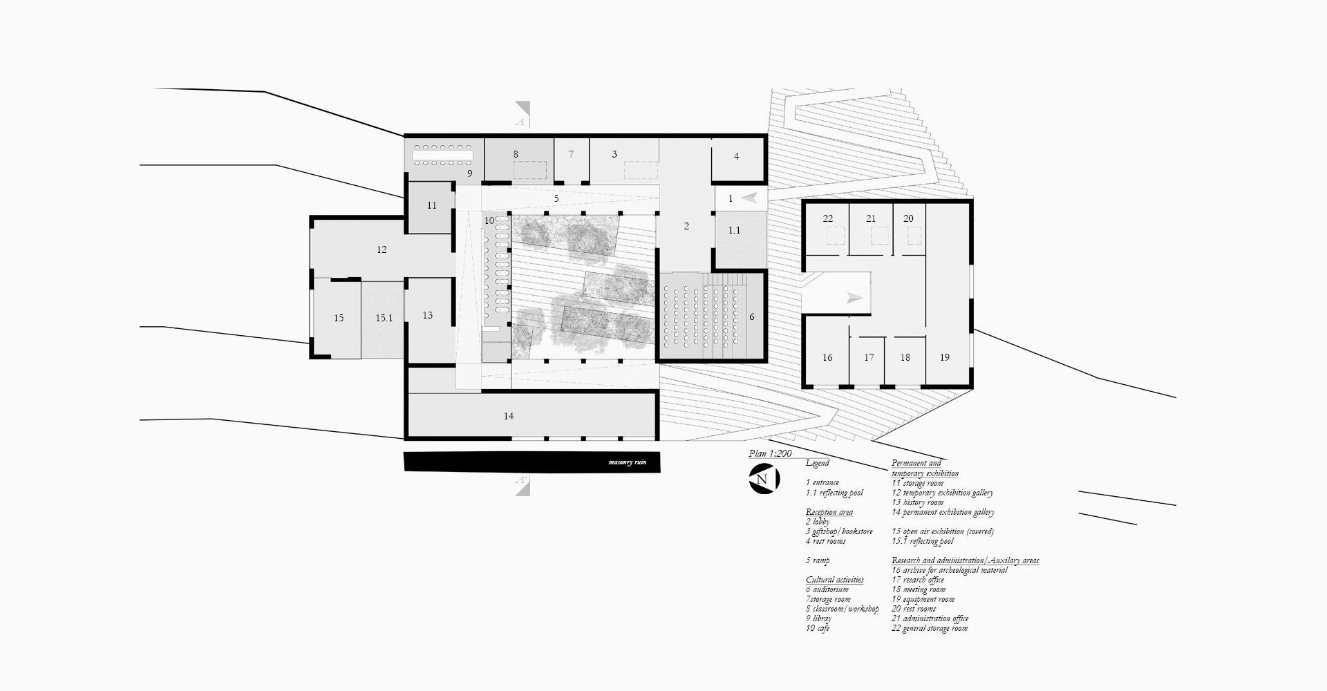 Planimetria progetto Site Museum