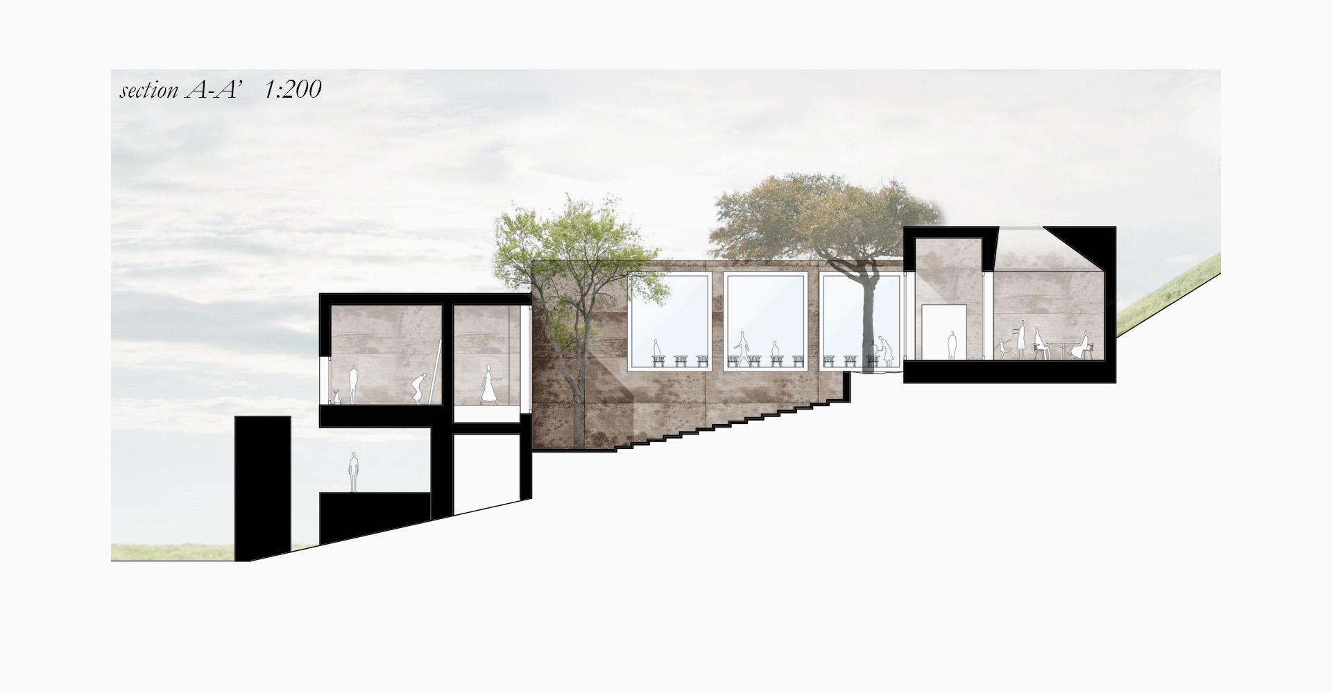 Prospettiva interna progetto Site Museum